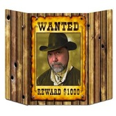 Western Decorations Wanted Poster Photo Prop Image