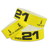 WB Over 21 Tyvek Wristbands Image