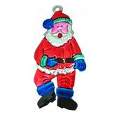 Christmas Decorations Santa Tin Ornament Image
