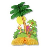 Luau Decorations Tropical Island Centerpiece Image
