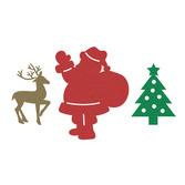 Christmas Decorations Glittered Christmas Cutouts Image