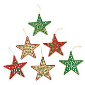 Christmas Decorations Glittered Star Ornament Image