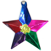 Cinco de Mayo Decorations Five Point Star Tin Ornament Image