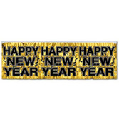 New Years Decorations Gold Happy New Year Banner Image