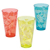 Luau Table Accessories Luau Leaf Plastic Glass Image