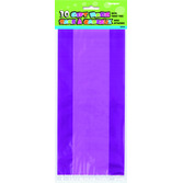 Mardi Gras Gift Bags & Paper Purple Cello Bags Image