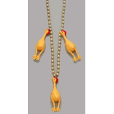 Birthday Party Party Wear Rubber Chicken Bead Necklace Image