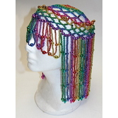 New Years Party Wear Rainbow Beaded Headpiece Image