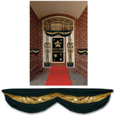 New Years Decorations Black & Gold Fabric Bunting Image
