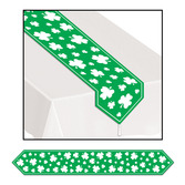 St. Patrick's Day Table Accessories Shamrock Table Runner Image