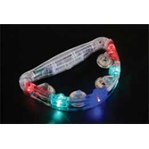 New Years Glow Lights Flashing Tambourine Image