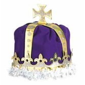 Mardi Gras Hats & Headwear King's Crown Purple Velour Image