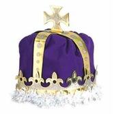 Mardi Gras Hats & Headwear King's Crown Purple Velour Image