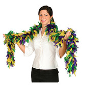 Mardi Gras Party Wear Mardi Gras Feathered Boa Image