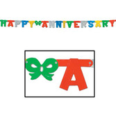 Anniversary Decorations Multicolor Anniversary Streamer Image
