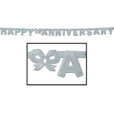 Anniversary Decorations Silver Anniversary Streamer Image