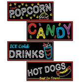 Spring & Summer Decorations Neon Food Sign Cutouts Image