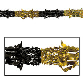 New Years Decorations Black and Gold Metallic Garland Image