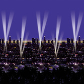 New Years Decorations Skyline Backdrop Image