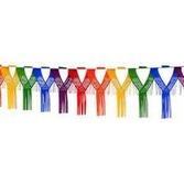 Birthday Party Decorations Rainbow Drop Fringe Garland Image