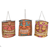 Luau Decorations Tiki Hanging Lanterns Image