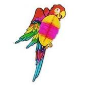 "Luau Decorations 17"" Tissue Parrot Image"