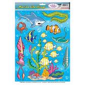 Luau Decorations Marine Life Glass Clings Image