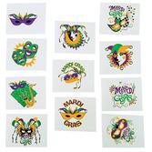 Mardi Gras Favors & Prizes Mardi Gras Glow in the Dark Tattoos Image