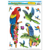Luau Decorations Tropical Bird Clings Image