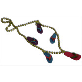 """Luau Party Wear 36"""" Beach Sandals Bead Necklace Image"""