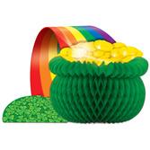 St. Patrick's Day Decorations Pot O' Gold Tissue Centerpiece Image