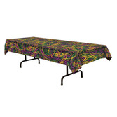 Mardi Gras Table Accessories Mardi Gras Beads Tablecover Image