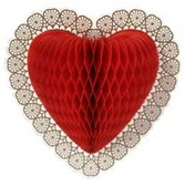 Valentine's Day Decorations Tissue Heart Decoration Image