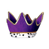 Mardi Gras Hats & Headwear Purple Plush Royal Crown Image