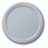 New Years Table Accessories Silver Dessert Plates Image