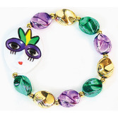 Mardi Gras Party Wear Mardi Gras Mask Bracelet Image