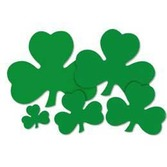 "St. Patrick's Day Decorations 5"" Printed Shamrock Cutout Image"