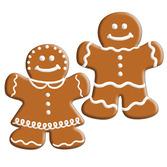 Christmas Decorations Mini Gingerbread Cutouts Image