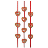 Valentine's Day Decorations Heart Ribbon Stringers Image