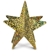 New Years Decorations Gold 3-D Prismatic Star Centerpiece Image