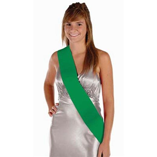 Party Wear Green Satin Sash Image