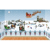 Christmas Decorations Giant White Christmas Scene Image