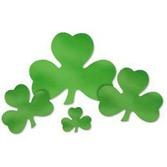 "St. Patrick's Day Decorations 16"" Foil Shamrock Cutout Image"
