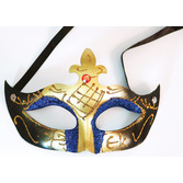Mardi Gras Party Wear Plastic Mardi Gras Mask Image
