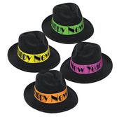 New Years Hats & Headwear Neon Swing Fedora Image