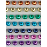 Cinco de Mayo Party Wear Rainbow Metallic Bead Necklaces Image