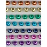 Cinco de Mayo Party Wear Rainbow Metallic Bead Necklaces Image