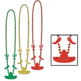 Cinco de Mayo Party Wear Fiesta Bead Necklaces Image