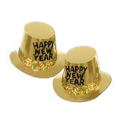 New Years Hats & Headwear Gold Rush Top Hat Image