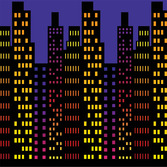 New Years Decorations Cityscape Backdrop Image